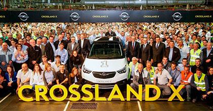 A Saragozza prodotto il primo esemplare di Opel Crossland X