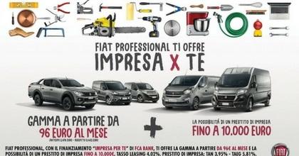 "Novità: Fiat Professional lancia ""Impresa x te"", Lancia e Leasys ""Shake it"""