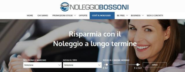 Gruppo Bossoni Automotive: ecco il nuovo portale per il noleggio