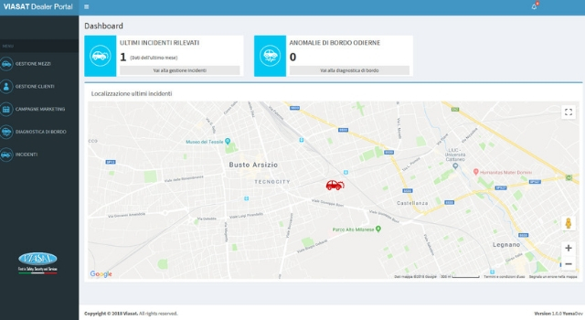 Viasat Dealer Portal schermata