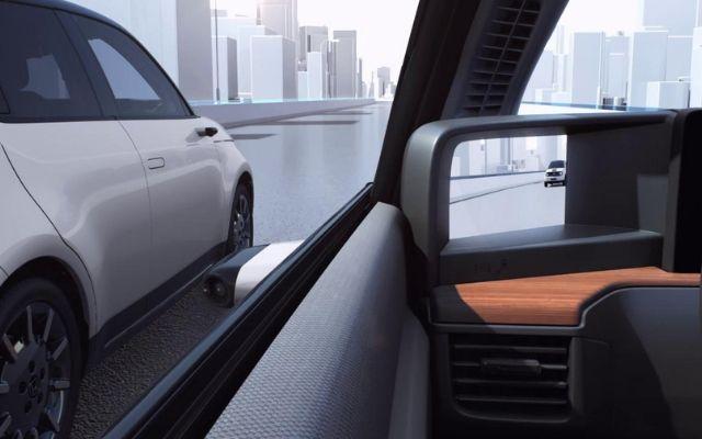 Specchietti retrovisori digitali su Honda e