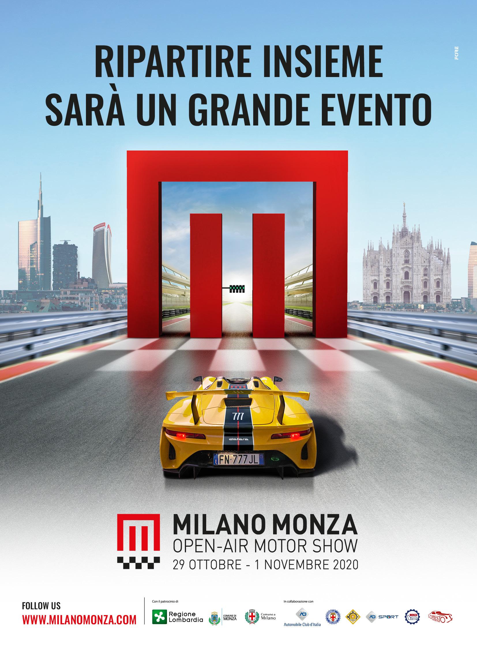 Milano Monza Open Air Motor Show rinviato a ottobre 2020