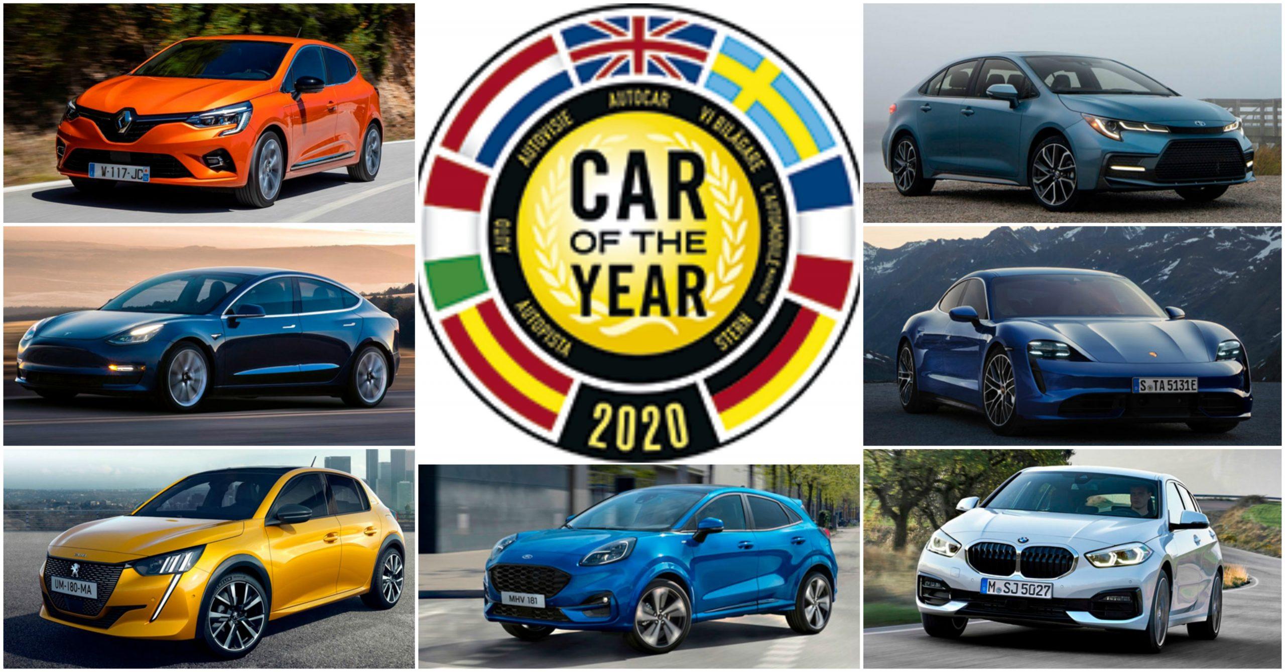 Le 7 auto finaliste per il premio Car of the Year 2020