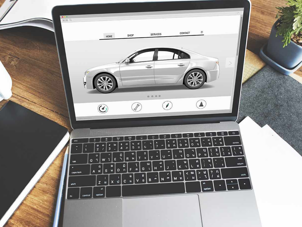 Acquistare un'auto nuova online.