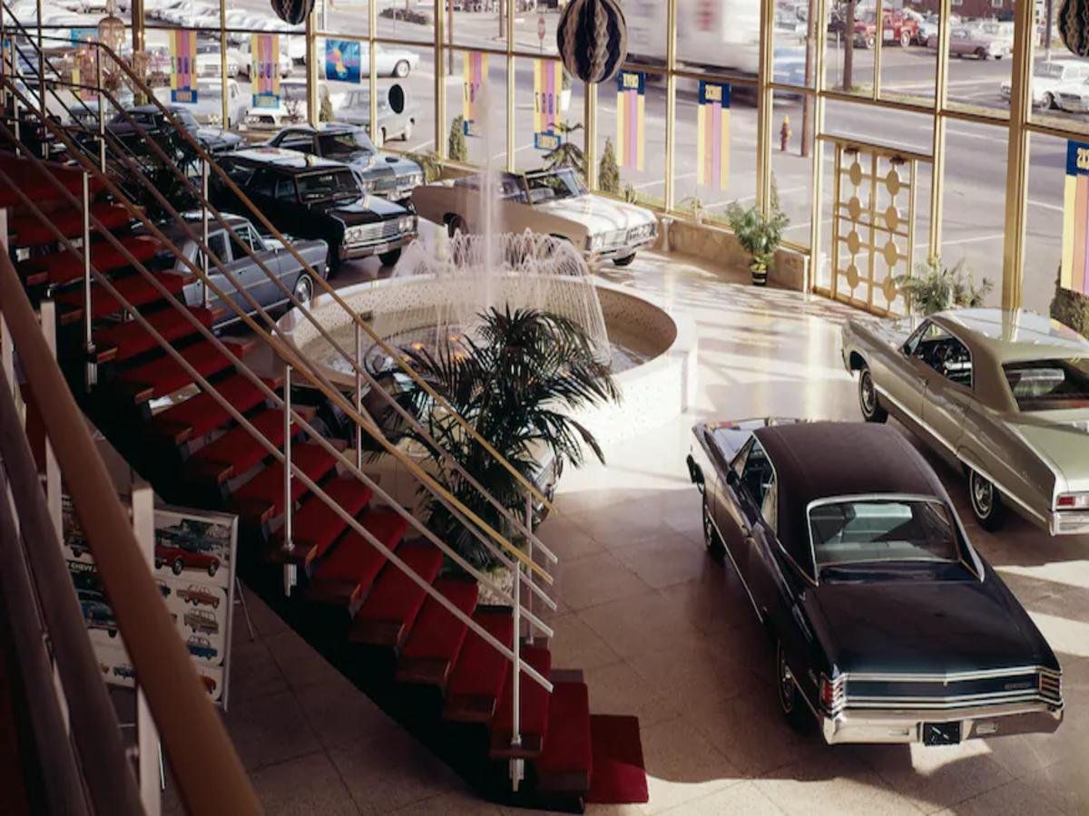 i concessionari di una volta Showroom Chevrolet, 1967